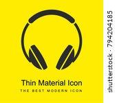 big headphones bright yellow...