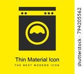 laundry service bright yellow...