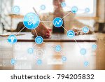 automation concept as an... | Shutterstock . vector #794205832
