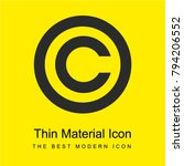 copyright symbol bright yellow...
