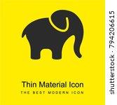 elephant alone bright yellow...