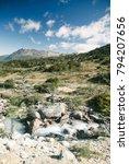 wild patagonia in the trekking... | Shutterstock . vector #794207656