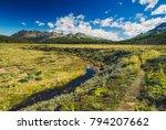 wild patagonia in the trekking... | Shutterstock . vector #794207662