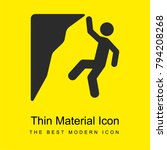 climbing bright yellow material ... | Shutterstock .eps vector #794208268