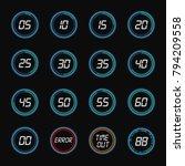 digital countdown. vector round ... | Shutterstock .eps vector #794209558