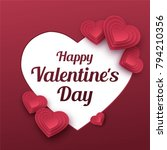 happy valentines day greeting... | Shutterstock .eps vector #794210356
