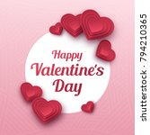 happy valentines day greeting... | Shutterstock .eps vector #794210365