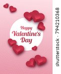 happy valentines day greeting... | Shutterstock .eps vector #794210368