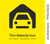 garage bright yellow material...