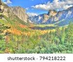 el capitan yosemite national... | Shutterstock . vector #794218222