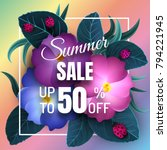 sale banner  poster with... | Shutterstock .eps vector #794221945