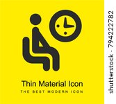 waiting room sign bright yellow ... | Shutterstock .eps vector #794222782