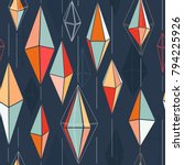 abstract multicolored triangles ... | Shutterstock .eps vector #794225926