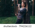 female jogger recovering after... | Shutterstock . vector #794226112