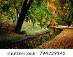 english park in tata  hungary | Shutterstock . vector #794229142