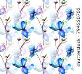 seamless pattern with... | Shutterstock . vector #794230702