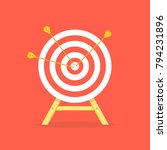 arrow hitting target. business... | Shutterstock .eps vector #794231896