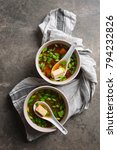 traditional miso soup in two... | Shutterstock . vector #794232826