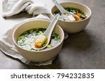 traditional miso soup in two...   Shutterstock . vector #794232835