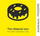 donut bright yellow material...