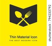 restaurant menu bright yellow...