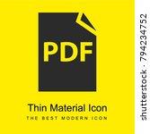 pdf file symbol bright yellow... | Shutterstock .eps vector #794234752
