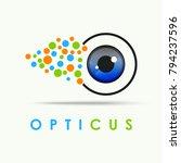 vector of eye  eye logo symbol... | Shutterstock .eps vector #794237596
