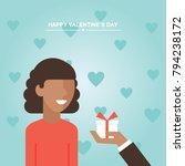 valentine's day gift  girl and...   Shutterstock .eps vector #794238172