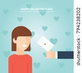 valentine's day gift  girl and...   Shutterstock .eps vector #794238202