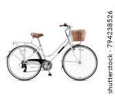 Retro Bicycle Isolated On Whit...