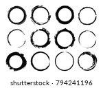 set of grunge circles.vector... | Shutterstock .eps vector #794241196