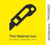 cutter bright yellow material... | Shutterstock .eps vector #794245822