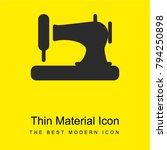 sewing machine bright yellow...