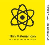 atom bright yellow material...