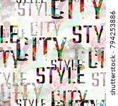 seamless pattern urban design.... | Shutterstock . vector #794253886