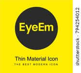 eyeem logo bright yellow...