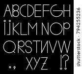 alphabet font letter | Shutterstock .eps vector #794255236