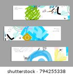abstract universal art web... | Shutterstock .eps vector #794255338