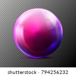 vector realistic glass purple... | Shutterstock .eps vector #794256232