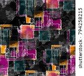 seamless pattern patchwork... | Shutterstock . vector #794258215