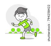 vector sports set running... | Shutterstock .eps vector #794258422