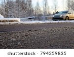 de icing chemicals and sand on... | Shutterstock . vector #794259835