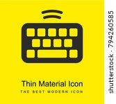 keyboard bright yellow material ...