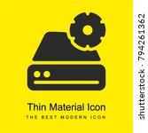 hard drive bright yellow... | Shutterstock .eps vector #794261362