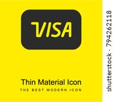 visa bright yellow material...   Shutterstock .eps vector #794262118