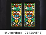 Coloured Stained Glass Window...