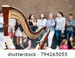the harp is a stringed musical... | Shutterstock . vector #794265055