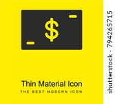 money bright yellow material...