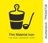 bucket bright yellow material...