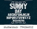 vintage font alphabet... | Shutterstock .eps vector #794266312